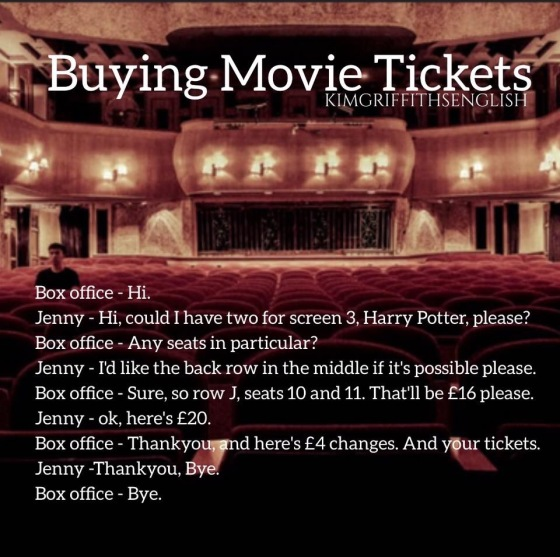 Buying cinema ticket kimgriffiths.com