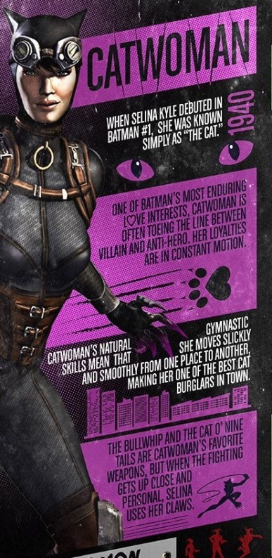 Catwoman factfile