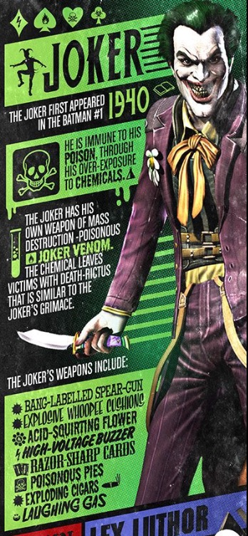 Joker Factfile