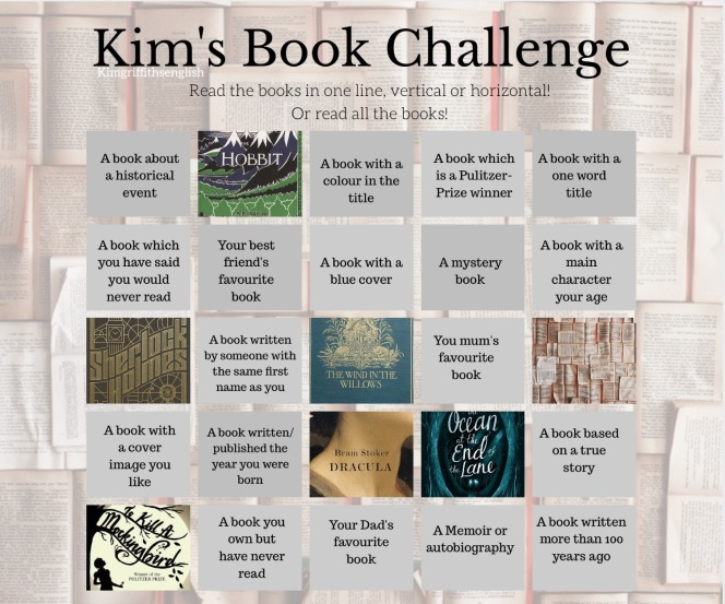 Book challenge. Kim Griffiths English