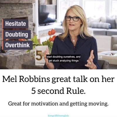 Mel Robbins #5secondrule