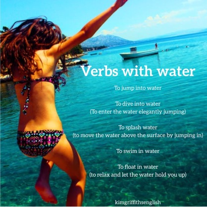 Verbs with water and swimming, Kim Griffiths English