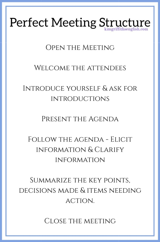 Meetings structure kim griffiths english