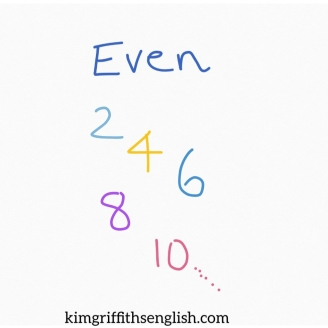 Even number examples. KimGriffithsEnglish a blog for ESL English students