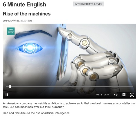 BBC learning English Rise of the machines.