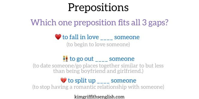 English Prepositions in relationship phrases. Kimgriffithsenglish, the blog to learn English ESL