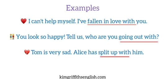 3 Love idioms, English. KimGriffithsEnglish.com the blog to learn English with. English prepositions
