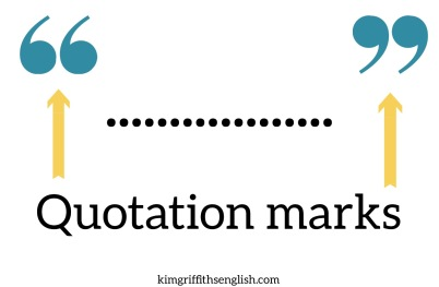 Quotations marks, 5 Essential quotes for learners. kimgriffithsenglish.com the blog to learn and practice your Esl English. Punctuation.
