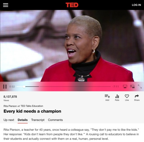 Rita Pierson's brilliant #tedtalk Every kid needs a champion. From the article 5 Essential Quotes for Language Learners from the web page kimgriffithsenglish.com the blog for learning English Esl.