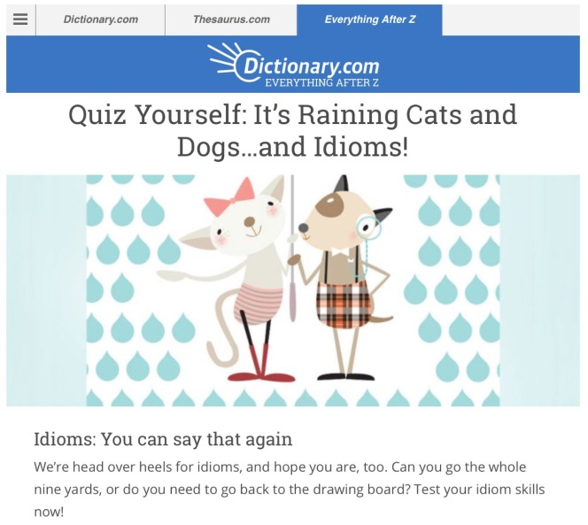 Idioms quiz from dictionary.com