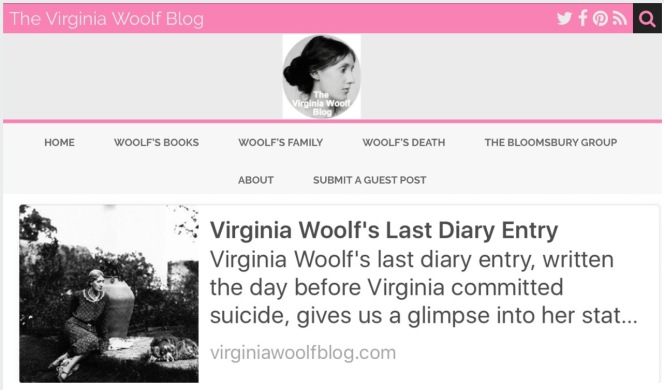 Virginia Woolf Diary Entry, from the Virginia Woolf Blog.