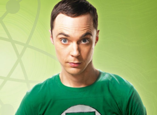 Sheldon Cooper from the series, The Big Bang Theory. A classic geek and quite nerdy too!