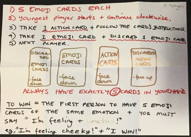 The emoji game - quick instructions for English learners from the English teaching blog KimGriffithsEnglish.com
