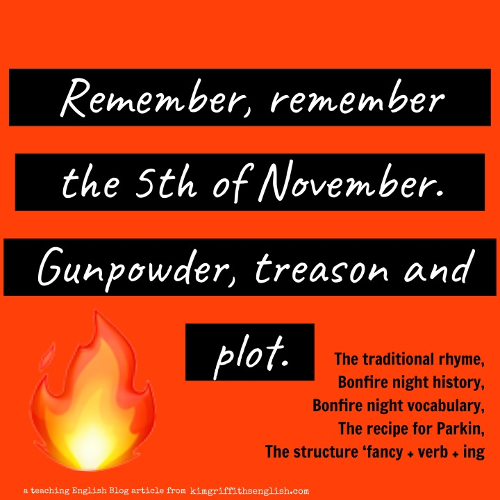 A blog article by kimgriffithenglish.com on Bonfire night for students of English ESL