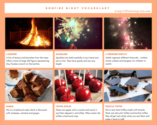 KimGriffithsEnglish.com, the blog to improve your English. Bonfire night Vocabulary