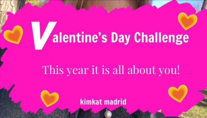 Kimkat Madrid's Valentines Day challenge on the blog Kimgriffithsenglish.com the blog to improve, practice and maintain your English as a second language.