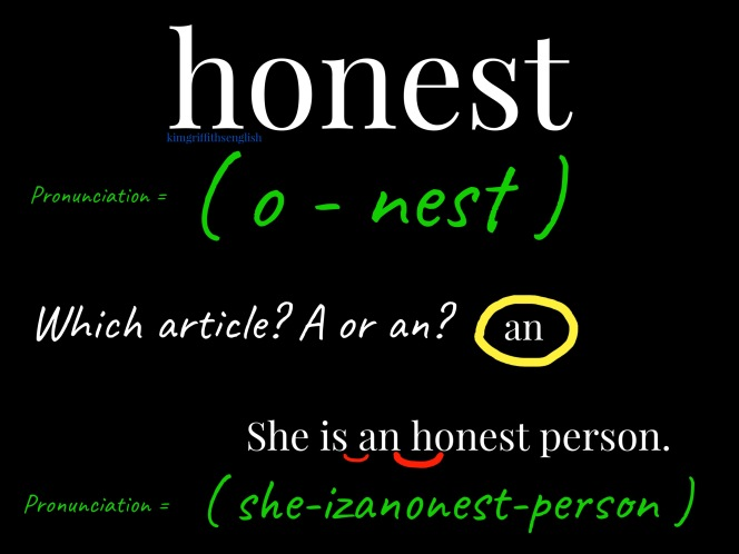 Honest tips. How to describe good character traits. KimGriffithsEnglish.com the blog to improve, practice and maintain your English.
