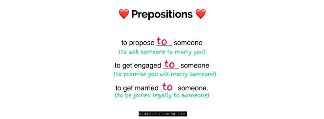 The answer to the preposition question - which preposition goes in all three of these phrases. Kimgriffithsenglish - the blog to learn English as a second Language.