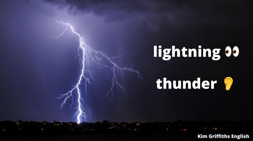 lightning and thunder, weather vocabulary, kimgriffithsenglish.com